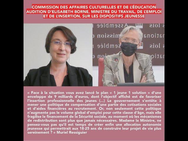 Audition d'Elisabeth Borne commission Assemblée nationale le 18 mai 2021.