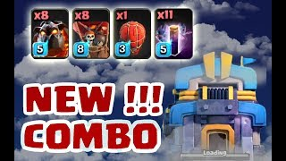 New combo 8 lava + 11 bat spell + khí cầu thả đá clear 3 sao Th12 | Clash of clans