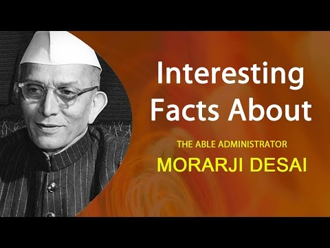Interesting facts about Former Prime Minister of India Morarji Desai