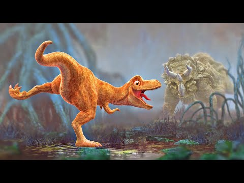 Dinosaur Animation - Cartoon for Children - PANGEA Movie Tra