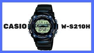 ► CASIO digital W-S210H ► Solar ► Mondphasenanzeige