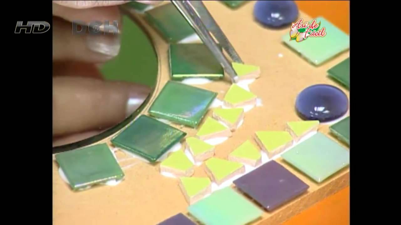 Manualidades pelusa espejo decorativo youtube - Espejos para manualidades ...