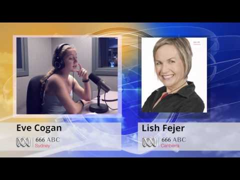 Eve Cogan Interview with Alicia Fejer (Lish) on Canberra Radio ABC 666