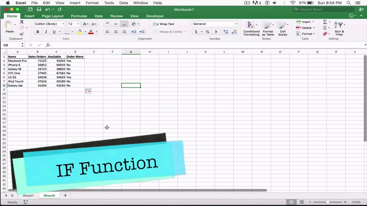 IF function in Excel with examples 10