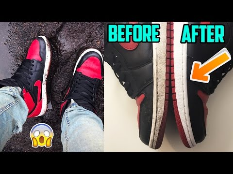 HOW TO CLEAN DIRTY MIDSOLES TUTORIAL!!!