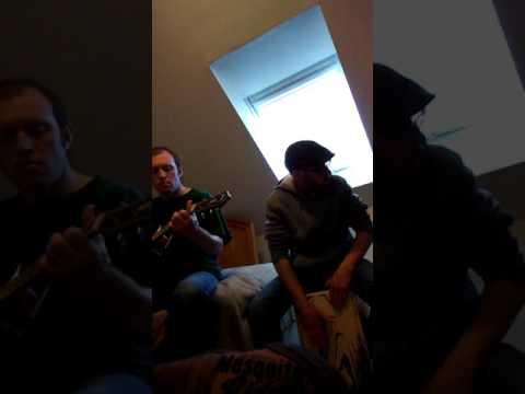 Jeremiah Stark on guitar & James Boucher on percussion