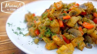 Теплый картофельный салат за 1 минуту