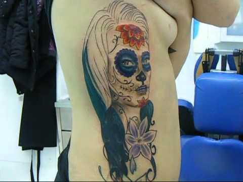 Tatuaje Catrina Color Youtube
