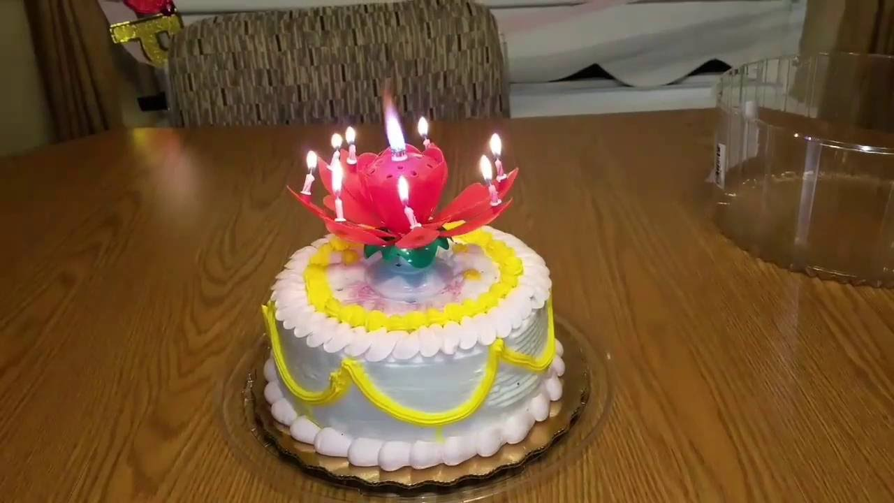 Singing Candle Lotus Flower Musical Birthday Candle Youtube