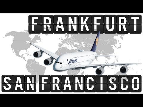 A380 Cockpit Flight Timelapse from FRANKFURT [FRA] to SAN FRANCISCO [SFO] 9300km