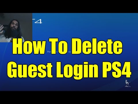 How To Delete/Remove Guest Login On PS4