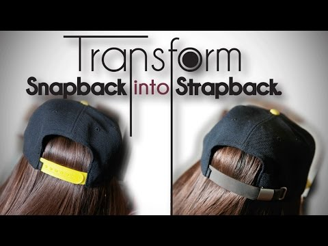 DIY Transformation | Turn Snapback into Strapback