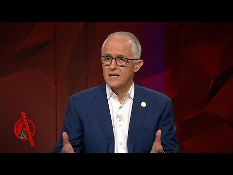 Malcolm Turnbull faces the public in his first appearance since being ousted as Prime Minister | Q&A