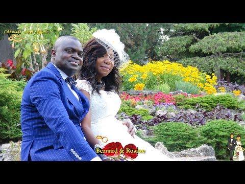TRÈS BEAU MARIAGE CONGOLO-CANADIEN DE BERNARD PONGUI ET ROSINE KOMBO À TORONTO, CANADA 29/07/20