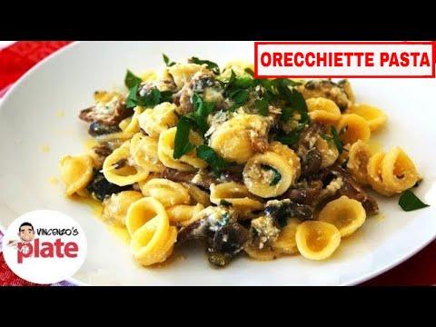 ORECCHIETTE PASTA RECIPE | Porcini Mushrooms and Zucchini Vegetarian Pasta