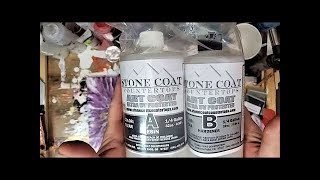 Working with Stone Coat Countertops' Art Coat Epoxy Resin - Acrylic Pouring, LIVE!