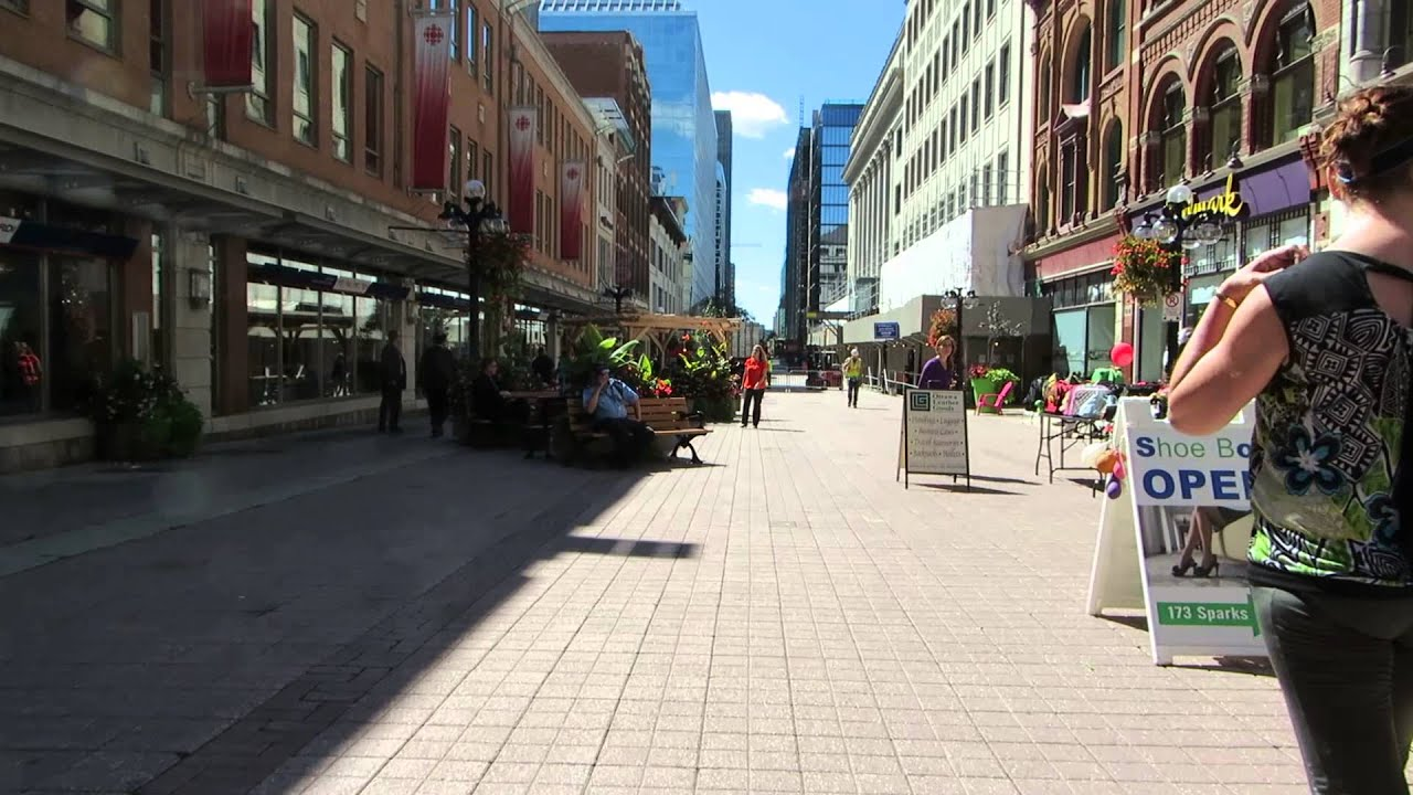 Downtown Ottawa Sparks Street Youtube