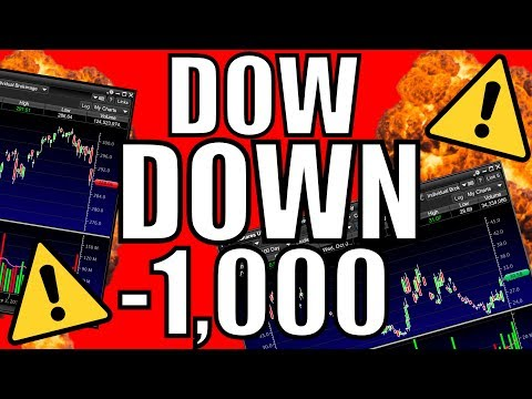 THE STOCK MARKET WENT DOWN 1,000 POINTS! – My Watchlist – How To Trade A Market Crash / Volatility