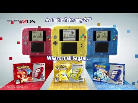 Pokemon RED YELLOW BLUE nintendo 2ds 3ds tvCM commercial UK BRitish euro
