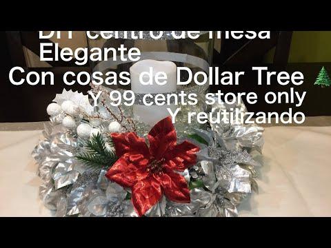 DIY Christmas centerpiece centro de mesa navideño