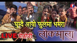 Lokmala - घुम्दै आयो फुलमा भमरा   Maina Reshmi Magar   Dinesh Thapa