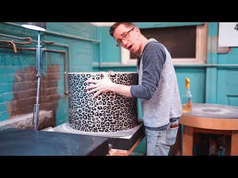 Crafting Tré Cool's Custom Silver Leopard Print Kit For Green Day! | SJC Custom Drums