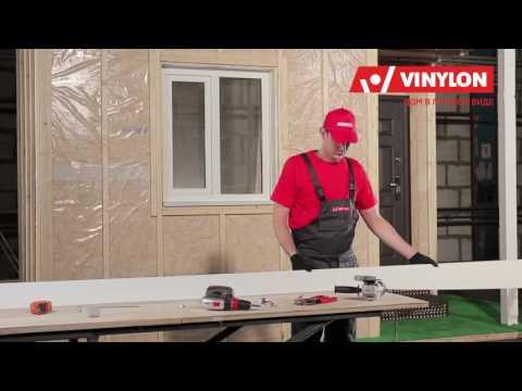 Отделка окна околооконным профилем VINYLON - Сайдинг монтаж своими руками