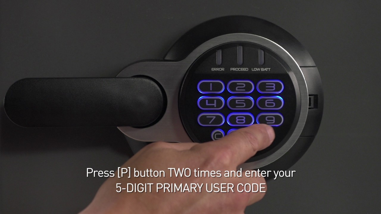 How To Program Codes On Your Sentry Safe Electronic Lock