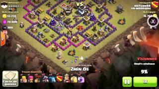 Clash of Clans - LaDraLon TH9 atk TH9 100% Clan Wa