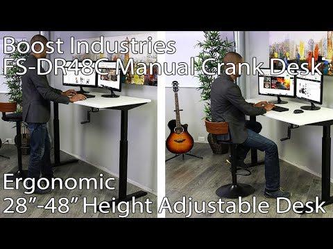 Boost Industries FS-DR48C Manual Crank Desk Installation Video.