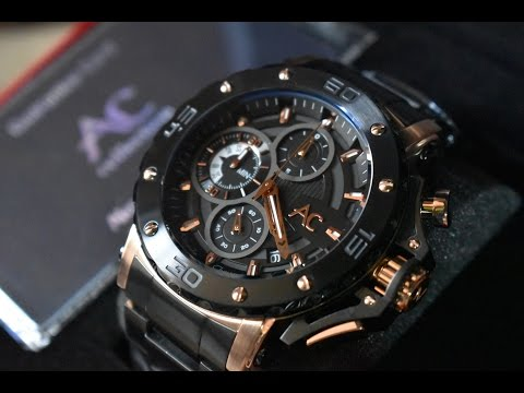 Alexandre Christie Collection AC 9205 Black Rosegold Stainless Steel