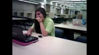 Girl caught watching porn in library