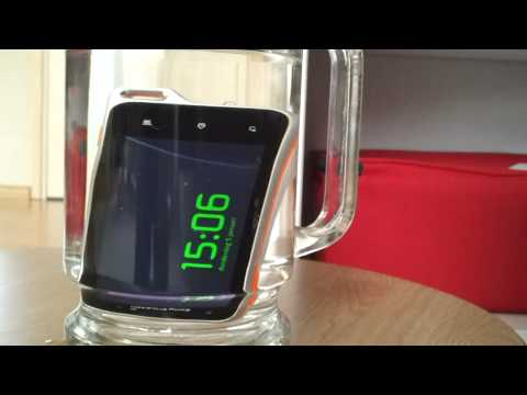 Sony Ericsson Xperia active water submission time test