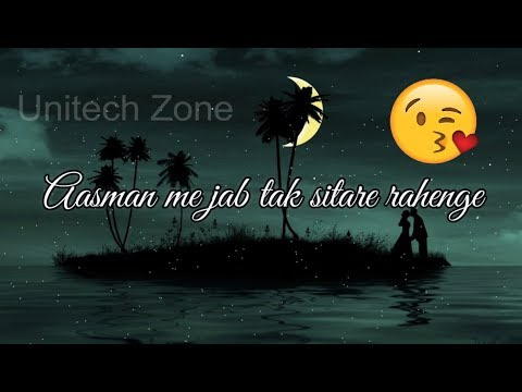 Aasman Me Jab Tak Sitare Rahenge ❤ || Female Version Whatsapp status ❤ Love WhatsApp Status Video ❤