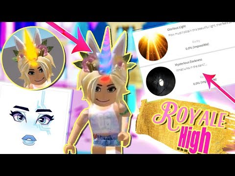 GLOWING UNICORN HORNS, SECRET BADGES & NEW MAKE-UP! Roblox Royale High LEAKS & UPDATES!