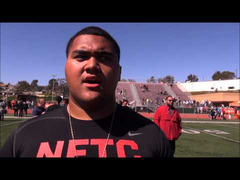 FightOn247 Interview with OL Damien Mama after LA Nike Camp