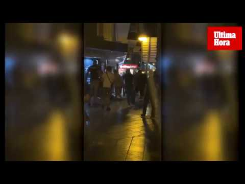 Brawl breaks out between British tourists and bar bouncers
