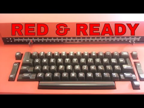 IBM selectric II Red and Ready to Rock