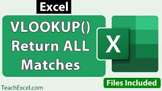 Vlookup To Return All Matches In Excel
