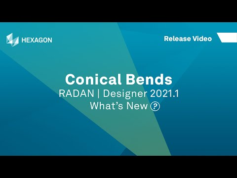 Conical Bends | RADAN Designer 2021.1