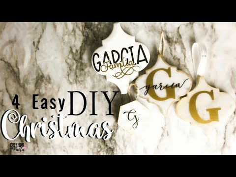 DIY Christmas Tile Ornaments Ideas| DIY Ornamentos de Cerámicas de Navidad