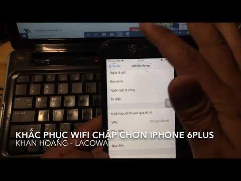 Khắc phục lỗi wifi iphone 6 plus