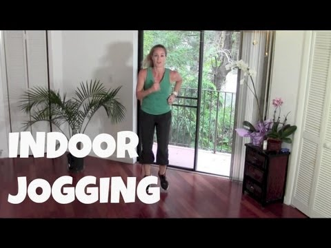 Walking Exercise - Indoor Jogging (power walking, running, cardio, fat burning)