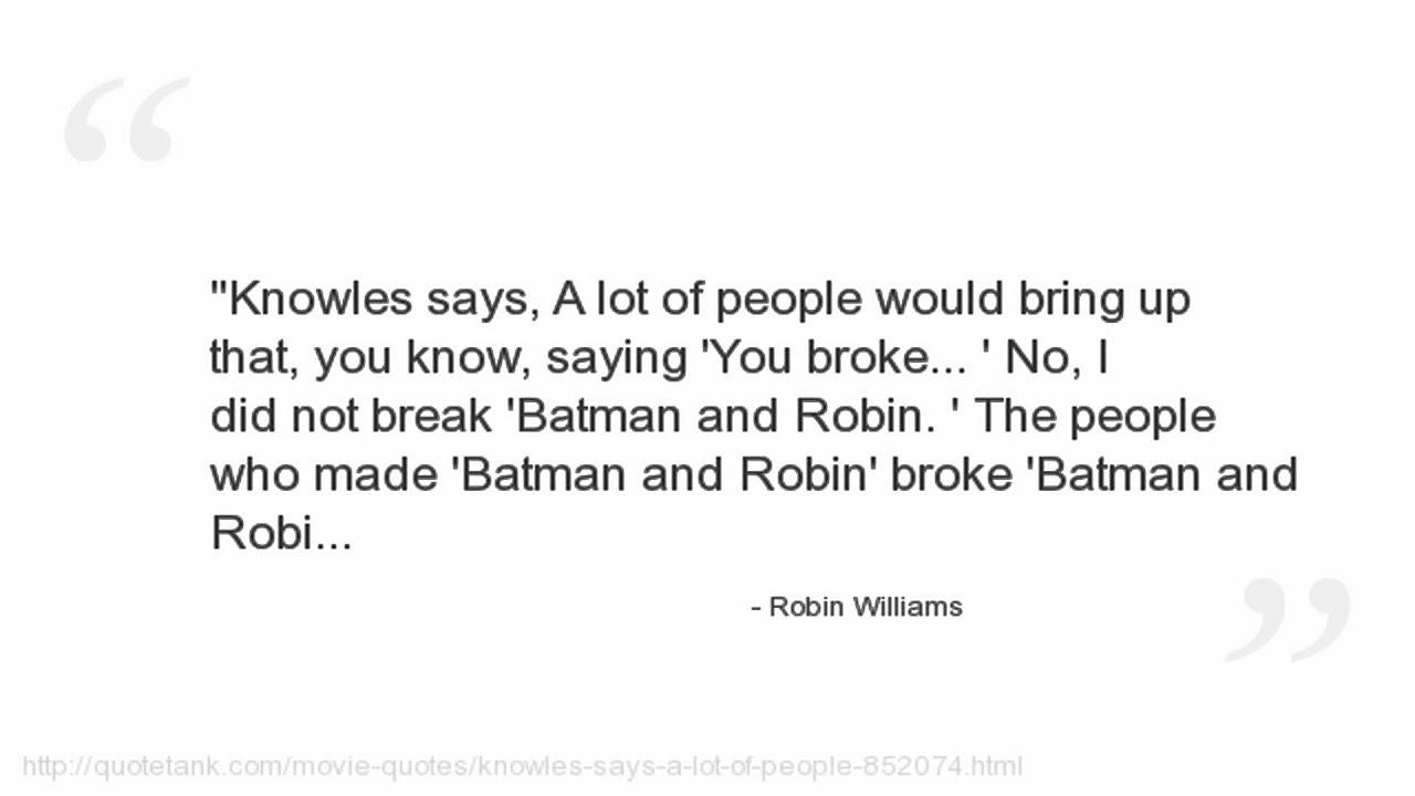 Robin Williams Quote   Robin Williams Quotes Youtube