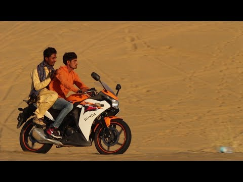 BIKE RACE IN DESERT OF JAISALMER II BIKE RIDING IN SAM SAND DUNE II DESERT SAFARI