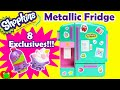 *New* Shopkins So Cool Metallic Fridge Playset with 8 Exclusive Shopkins