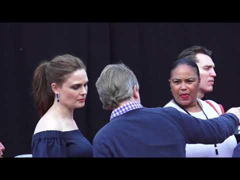 David Hornsby and Emily Deschanel arrive at It's Always Sunny In Philadelphia Season 13 Premiere at