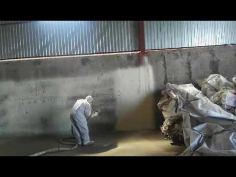 Утепление стен зернохранилища