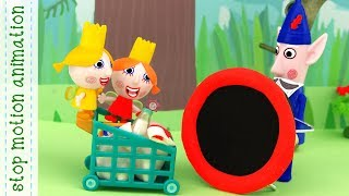 Merry trip, Perfect picnic, Games with dolls, Mouse  Ben and holly's little kingdom stop mot