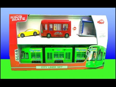 Dickie Toys City Liner Tram, Porsche, City Bus  #unboxing - VIDEO FOR CHILDREN